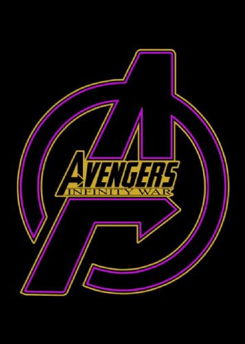 2010's Movie - THE AVENGERS - INFINITY WAR LOGO PURPLE / canvas print - self adhesive poster - photo